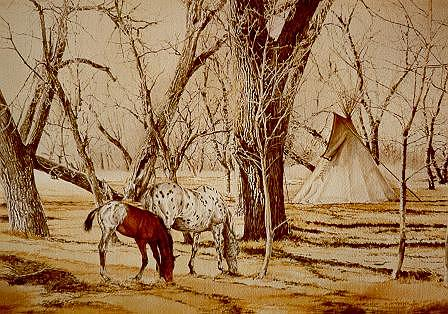Horses Painting - By Dawns Early Light by Judith Angell Meyer