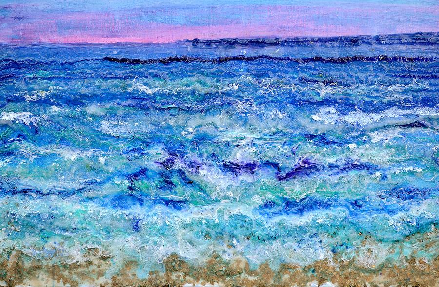 Ocean Painting - By The Beautiful Sea by Regina Valluzzi