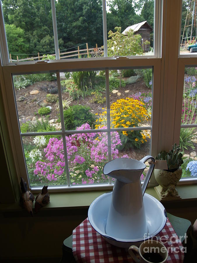Window Photograph - By The Garden Window In North Carolina by Anna Lisa Yoder