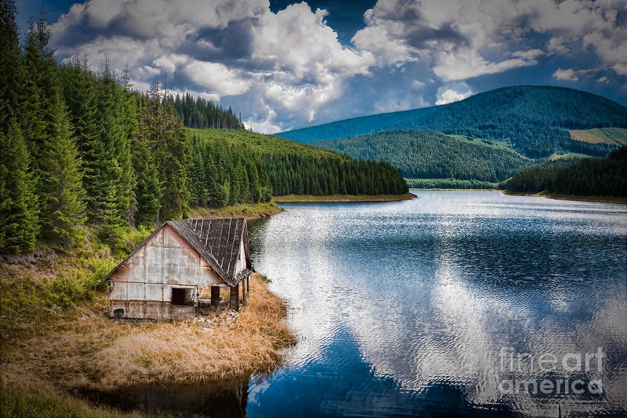 House Photograph - By The Lake by Gabriela Insuratelu