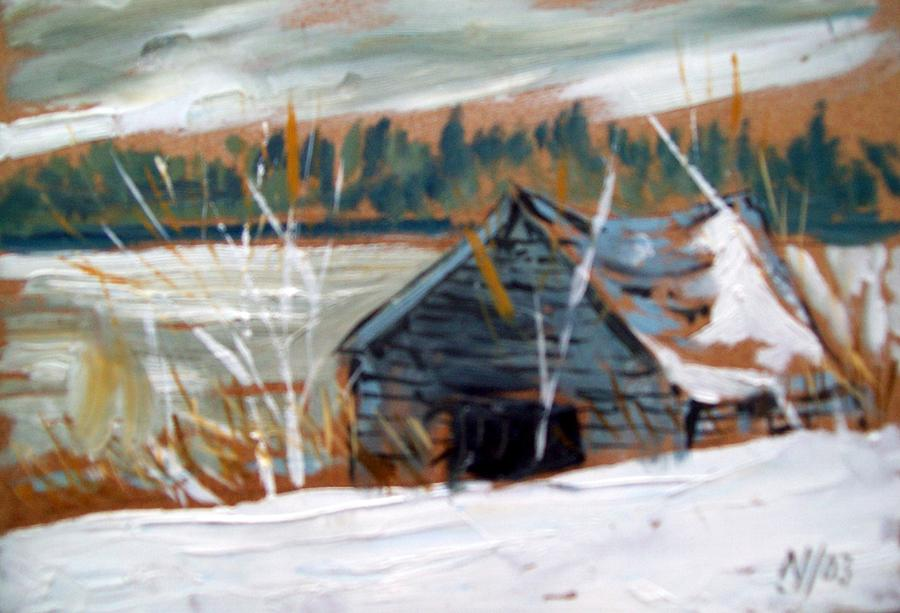 Winter Painting - By The Lake by Norman F Jackson