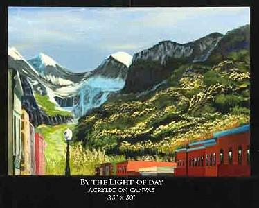 Landscape Painting - By The Light Of Day by Robert Newport