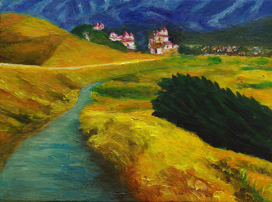 Landscape Painting - By The Ocean In Pacifica Ca by Weily Jo