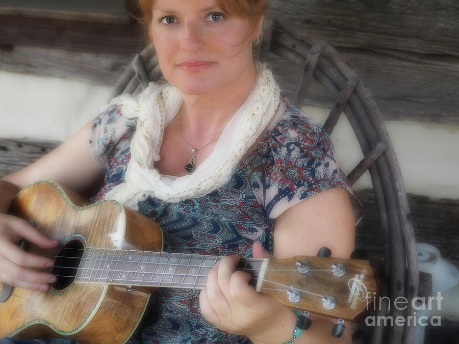 Music Photograph - By the Portrait of Beauty  by Steven Digman