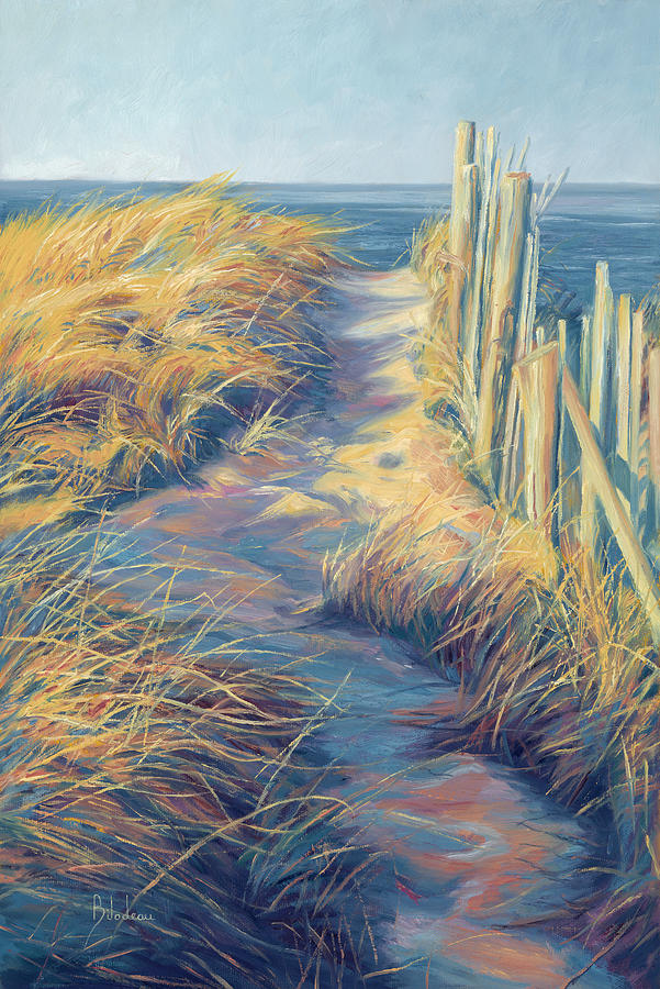 Ocean Painting - By The Sea by Lucie Bilodeau