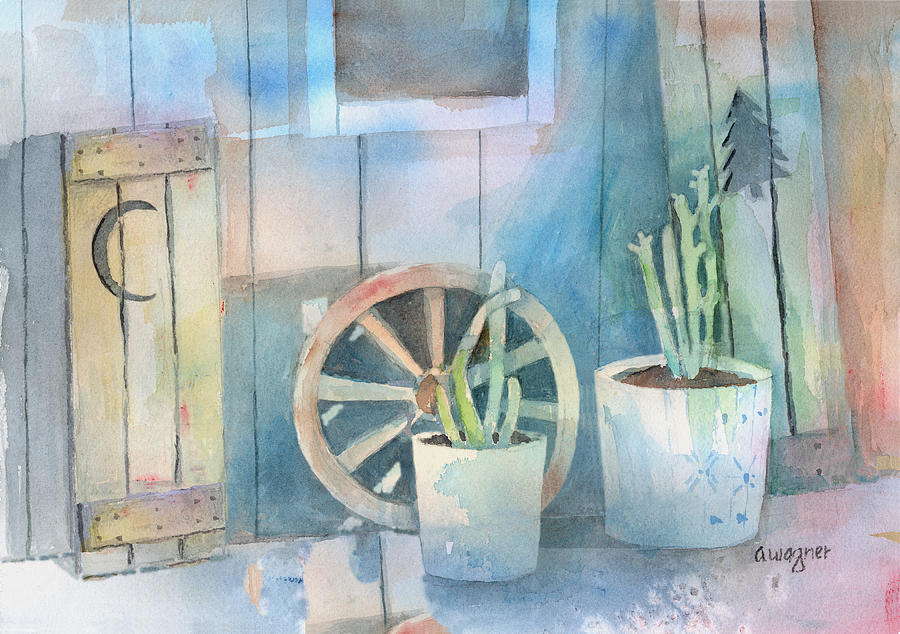 Shed Painting - By The Side Of The Shed by Arline Wagner