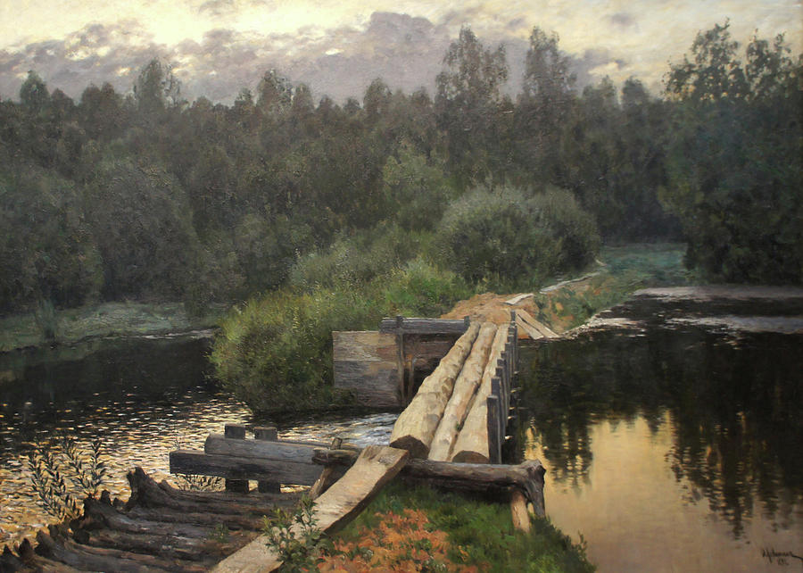 Isaac Levitan Painting - By the Whirlpool by Isaac Levitan
