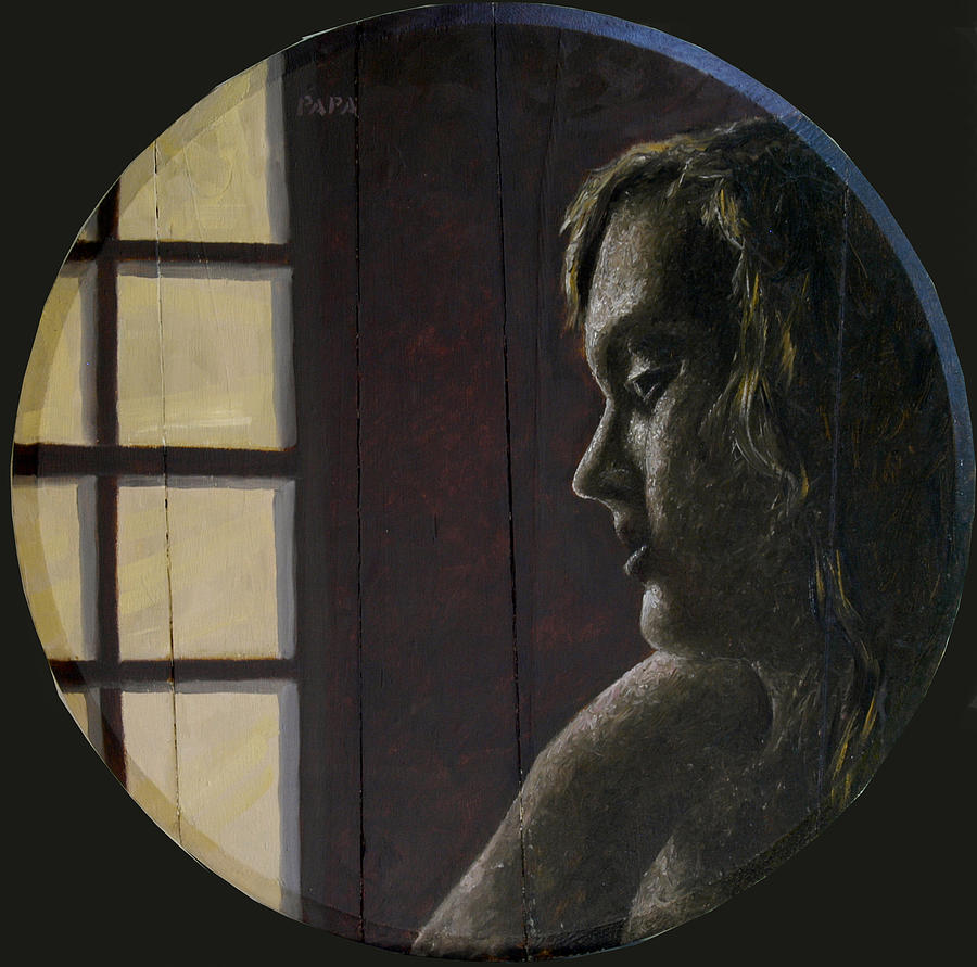 Figurative Painting - By The Window by Ralph Papa