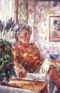 By The Window Painting by Tina Siddiqui