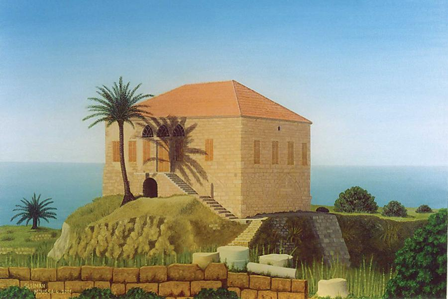 House Painting - Byblos Old House by Sleiman Moussa