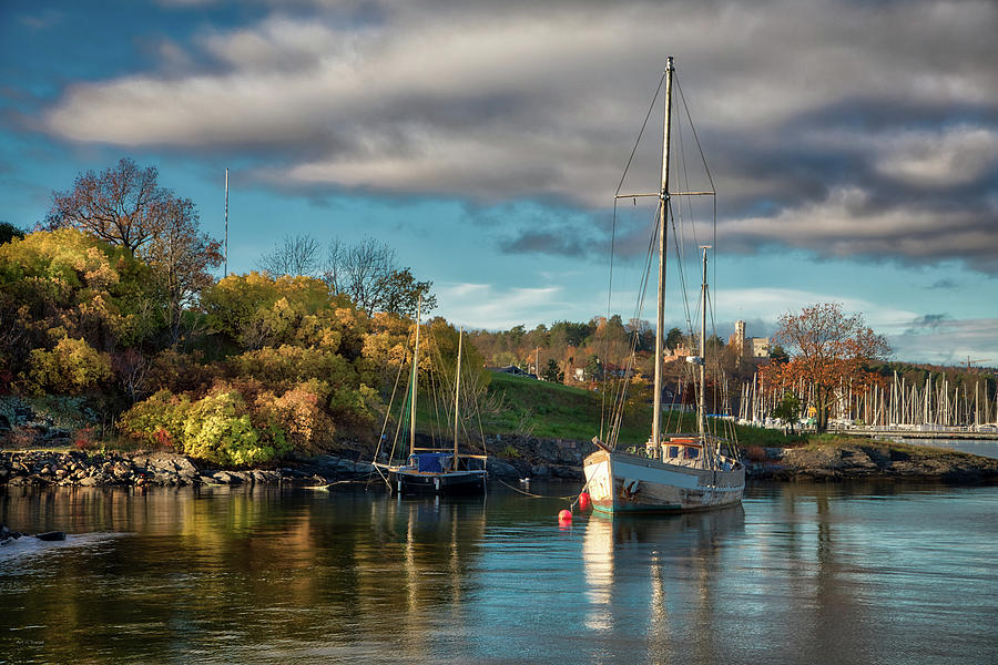 Boat Photograph - Bygdoy Harbor by Ross Henton