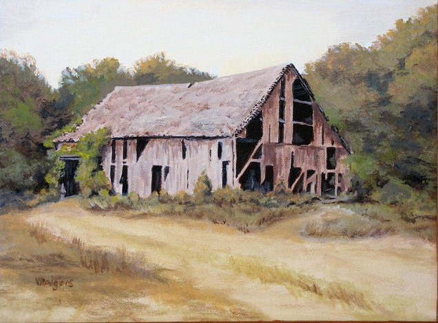 Landscape Painting - Bygone Days by Vera Rodgers