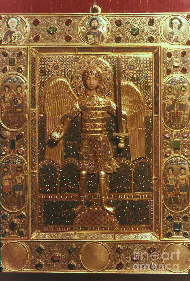Artifact Photograph - Byzantine Art: St. Michael by Granger