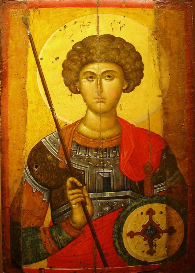 Byzantine Photograph - Byzantine Knight by Ellen Henneke