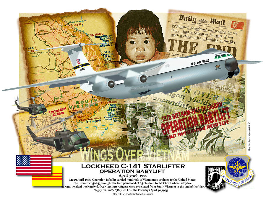 C-141 Operation Baby Lift by Kenneth De Tore
