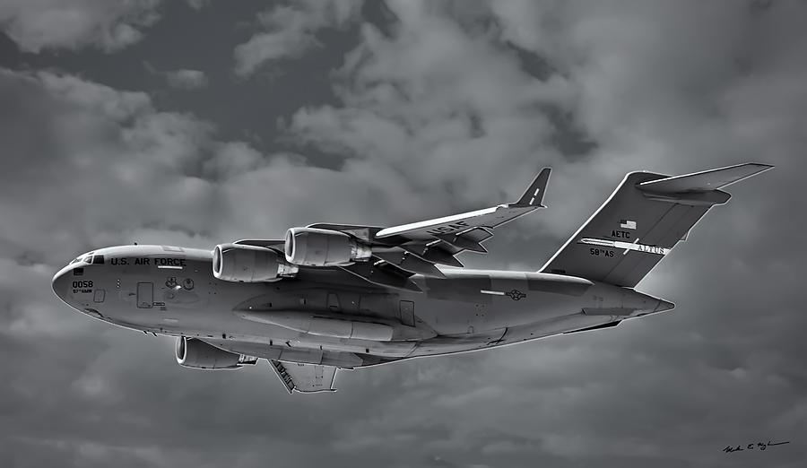 C-17 Globemaster IIi Bw Photograph