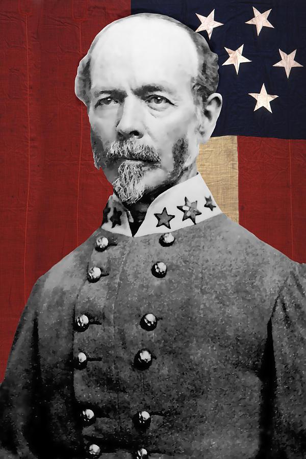 C S A General Joseph E. Johnston Digital Art by Daniel ...