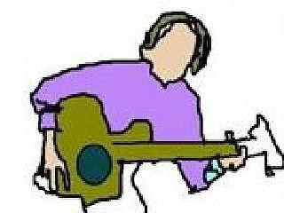 Pixel Painting Digital Art - C1-he Is Listening And Playing His Guitar by Devon Walton