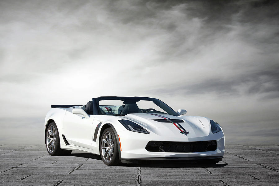Chevrolet Digital Art - C7 Z06 Corvette by Peter Chilelli