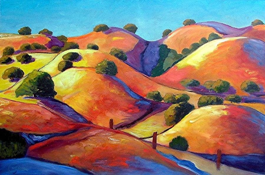 Curves Painting - Ca Rollers by Gary Coleman