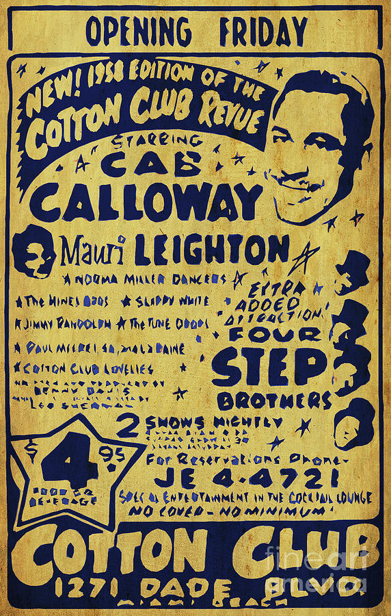 Cab Calloway Poster. Four Step Brother, Cotton Club. Awesome Show Digital Art