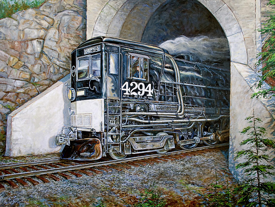 Train Painting - Cab Forward by Gary Symington