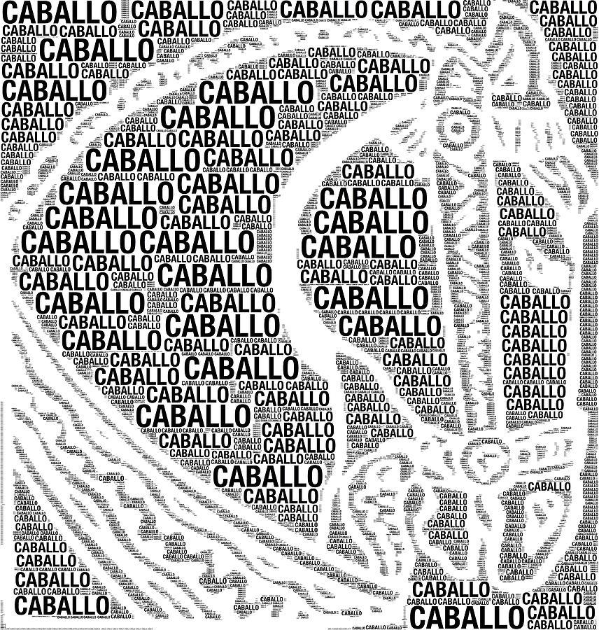 Caballo Digital Art - Caballo by Alice Gipson