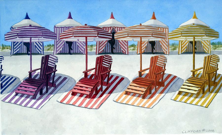 Cabana Painting - Cabana Beach by Cory Clifford