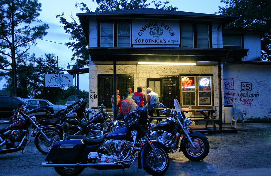 Motorcycle Photograph - Cabbage Patch Bikers Bar by Kristin Elmquist
