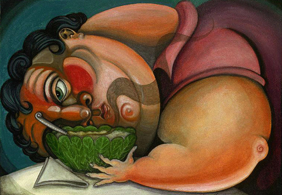 Illustration Painting - Cabbage Soup Diet by Lina Scarfi