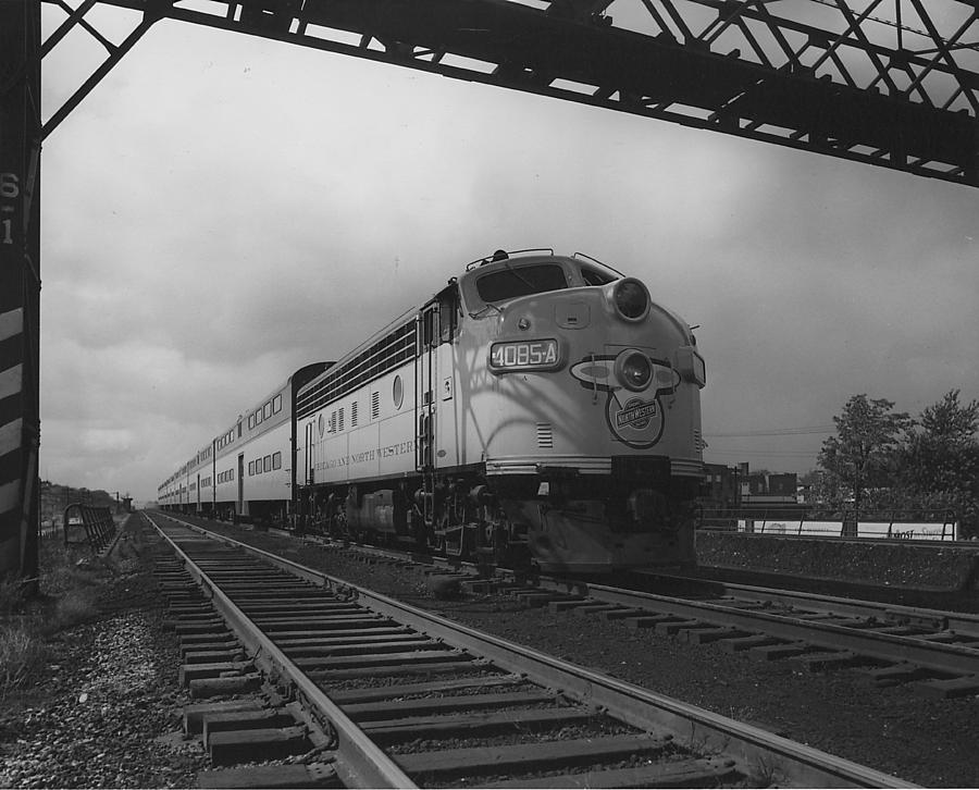 Passenger Cars Photograph - Locomotive 4085A - 1959  by Chicago and North Western Historical Society