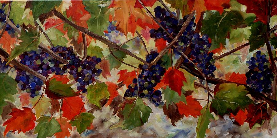 Landscape Painting - Cabernet Franc by Monica Ironside