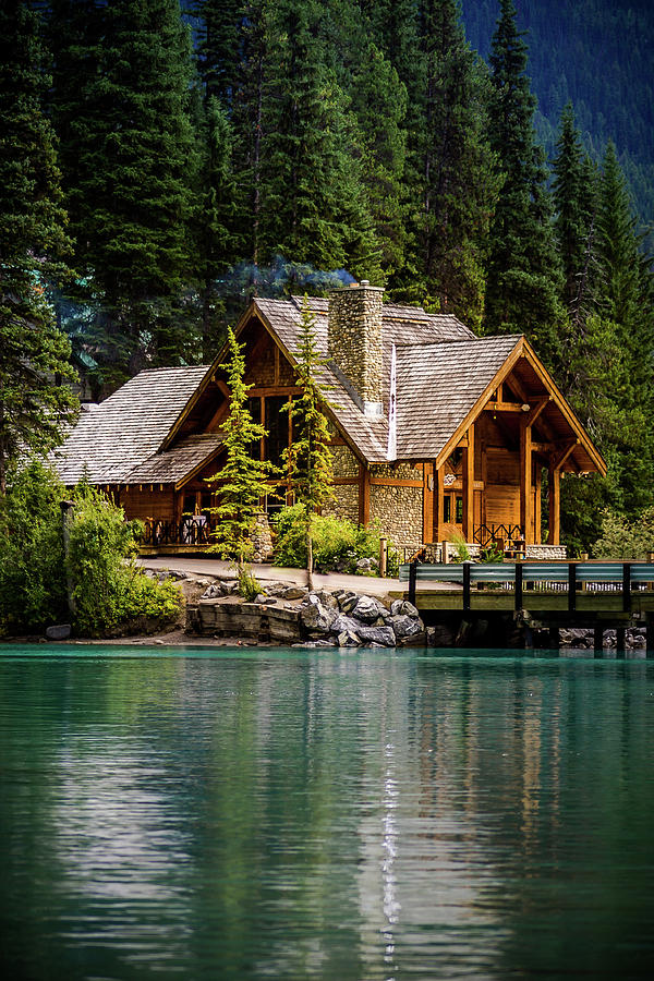 cabin at the lake photograph by thomas nay