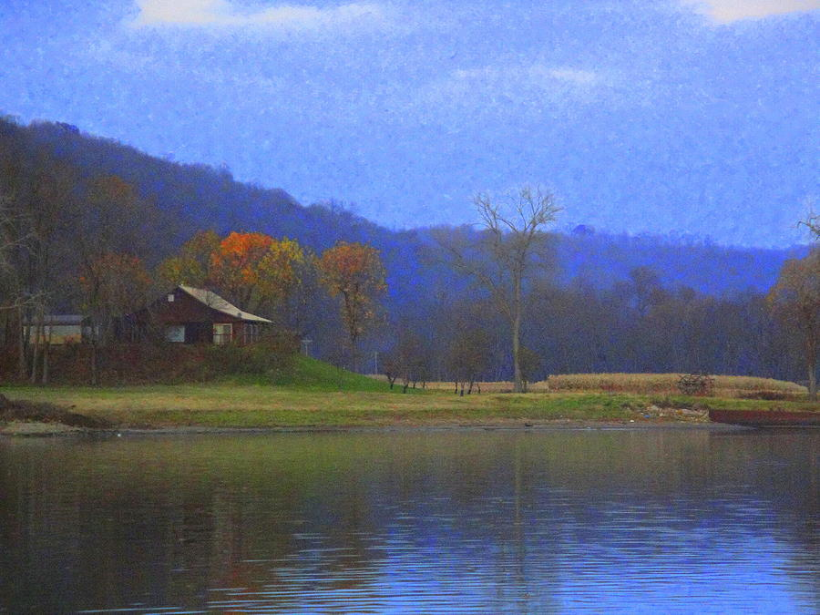 Landscape Photograph - Cabin By The Ohio River by Terry  Wiley