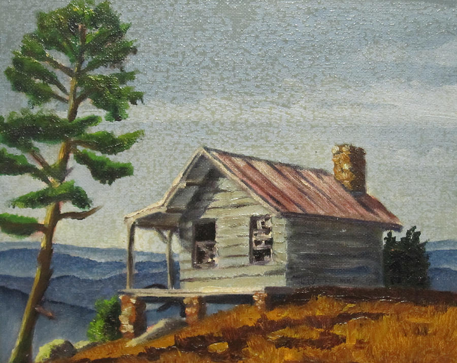 Farm Painting - Cabin by D T LaVercombe