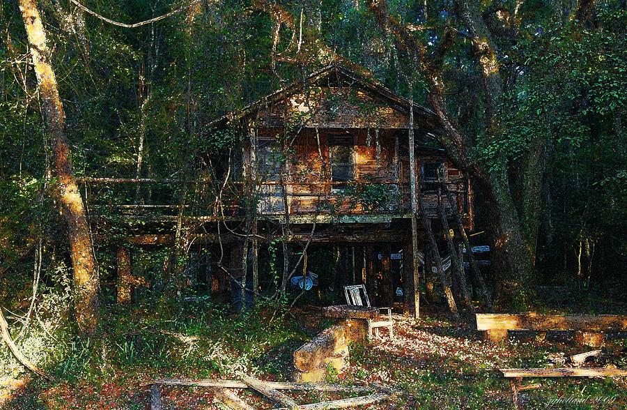 Log Cabin Digital Art - Cabin Fever Watercolor by Joseph G Holland
