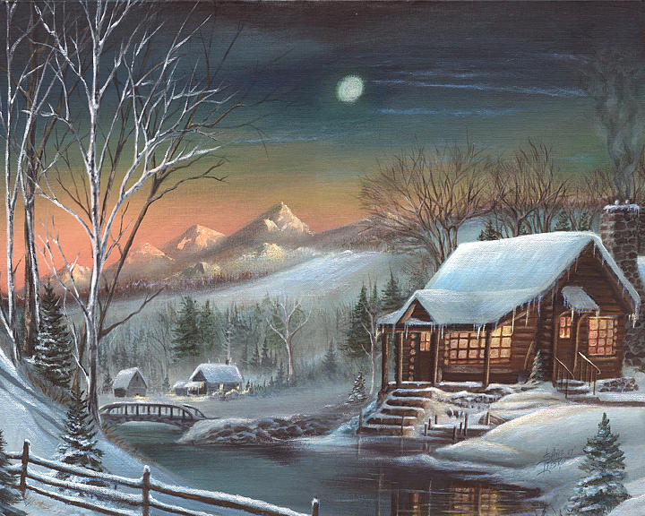 Cabin In The Woods Print by Shane Lieske
