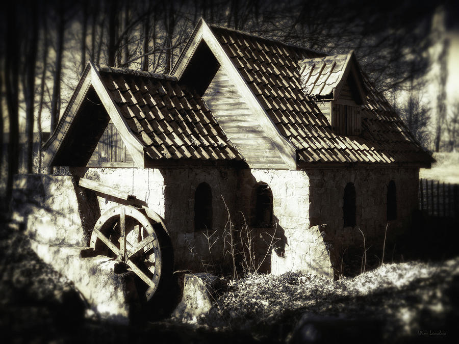 Cabin Photograph - Cabin In The Woods by Wim Lanclus