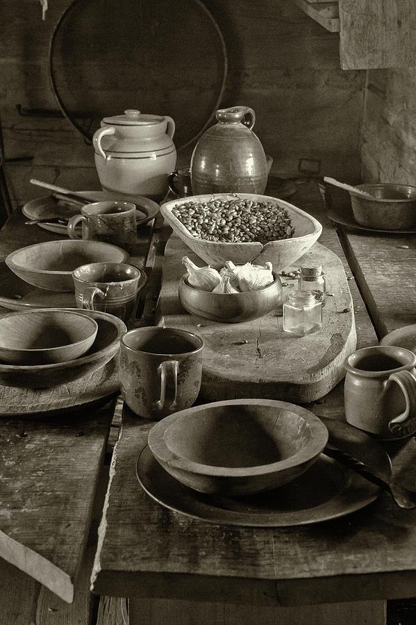Cabin Kitchen Table Photograph