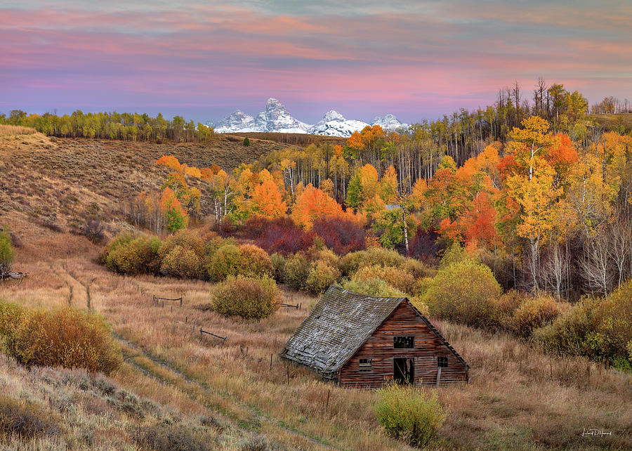 Cabin Under the Tetons by Leland D Howard