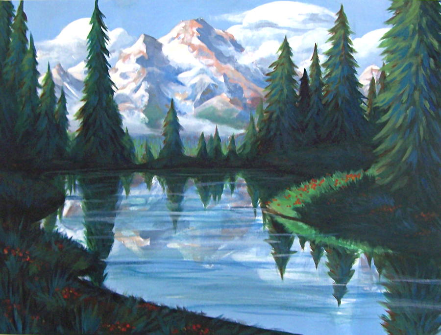 Painting Painting - Cabin View by Jessica Ostrander