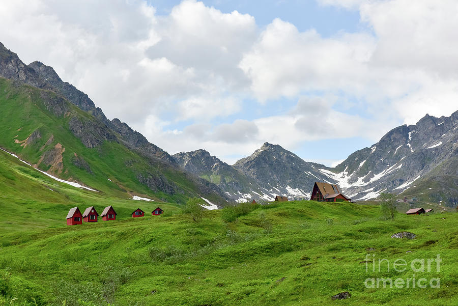 Cabins In The Alaskan Mountains Photograph