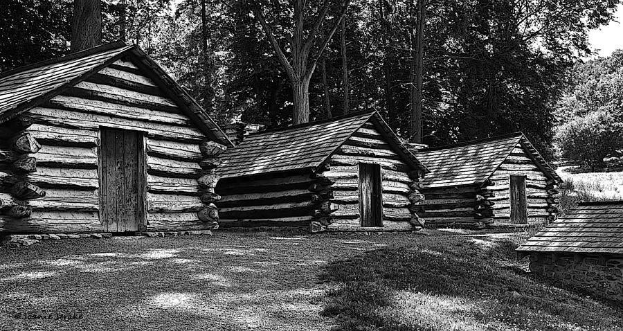 Valley Forge Photograph - Cabins Of Valley Forge by Boni Drake