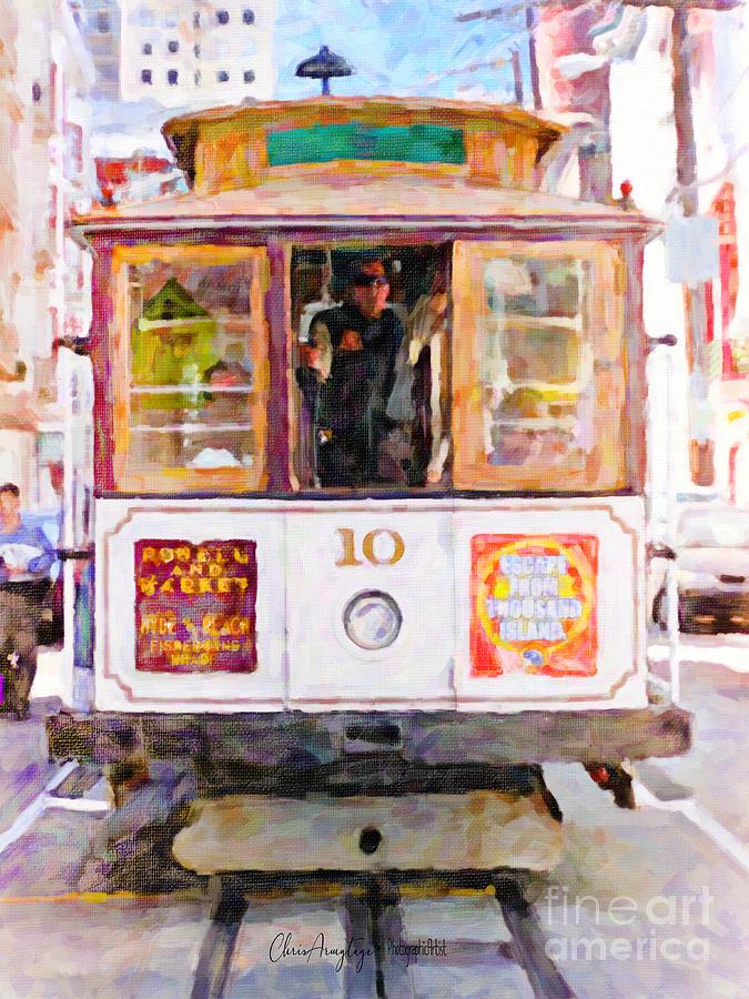 San Francisco Painting - Cable Car No. 10 by Chris Armytage