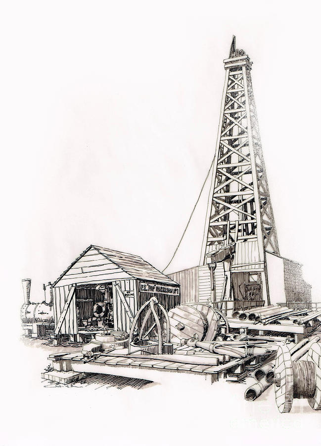 Cable Drilling Rig by Harold Teel