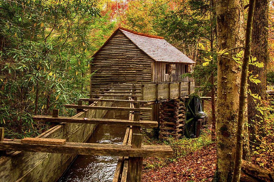 Cable Mill Cades Cove Smoky Mountains Tennessee In Autumn