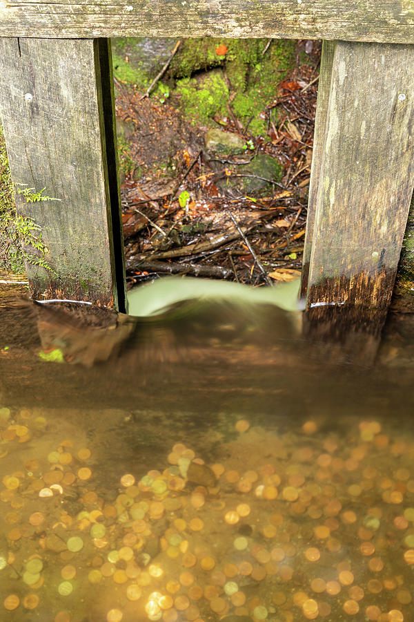 Grist Photograph - Cable Mill Flume 1 A by John Brueske