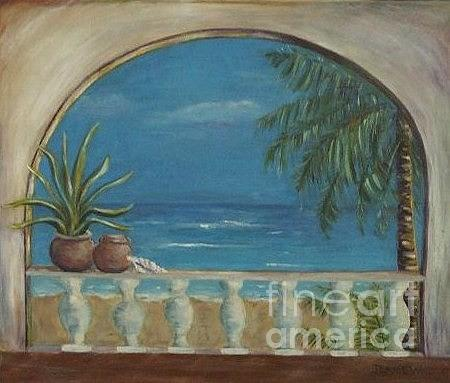 Landscape Painting - Cabo Arch by Jeanie Watson