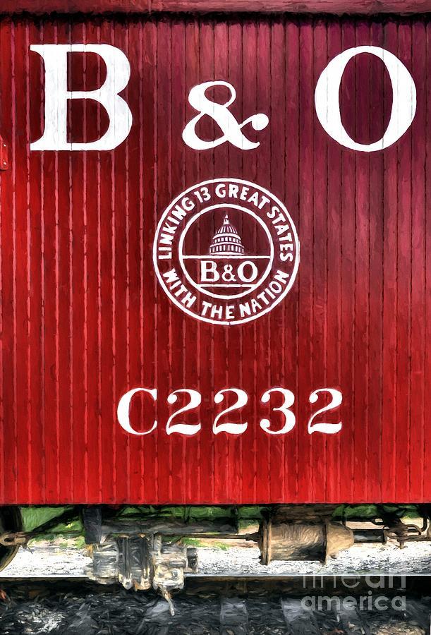 Train Caboose Photograph - Caboose # C2232 by Mel Steinhauer