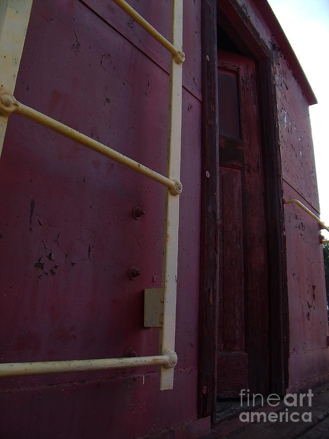Caboose Photograph - Caboose Door by The Stone Age